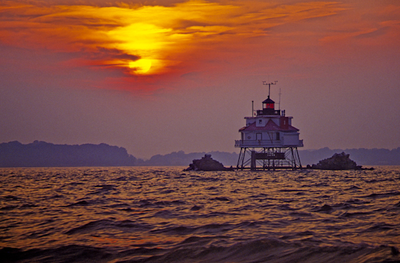 Thomas Point Shoal Lighthouse, Chesapeake Bay, Maryland, May 31,